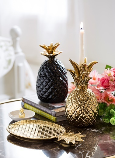 Warm Design Ananas Motifli Takılık & Saklama Kutusu Renkli